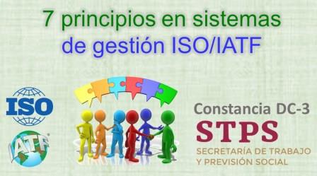 TALLER. 7 PRINCIPIOS PARA ÉXITO en los sistemas de gestión ISO