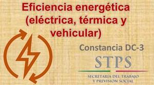 Eficiencia energética (eléctrica, térmica y vehicular)