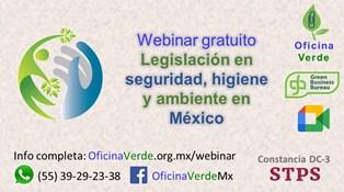 Webinar gratuito. Legislación en seguridad, higiene y ambiente en México
