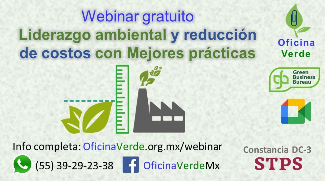 Webinar gratuito Liderazgo ambiental y reducción de costos