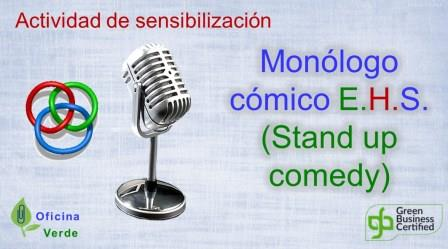 Monologo comico EHS tipo stand up comedy