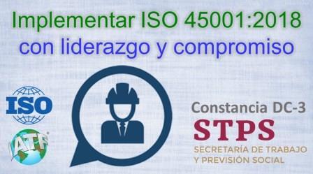 TALLER. ISO 45001:2018 con enfoque de liderazgo y compromiso