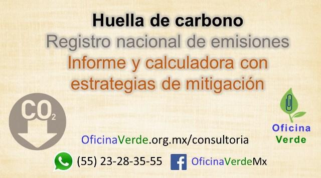 Huella de carbono y registro nacional de emisiones RENE Informe y calculadora